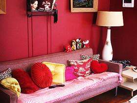 空间色彩搭配学之:小户型大玩红色魅惑