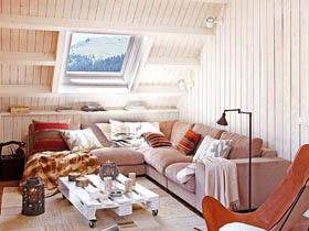 木作舒适阁楼家 悠然自得的甜蜜生活