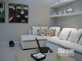 简洁明了一居室 异域风情装饰画