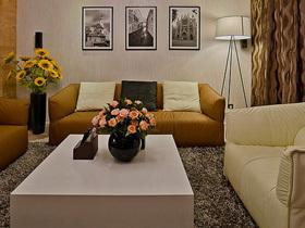 原木色背景墙 130平现代简约三居