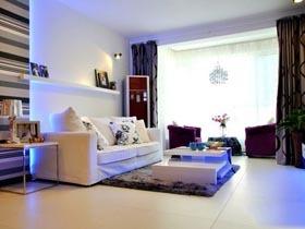梦幻阳台设计 甜蜜一居室