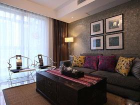 优雅中式二居室 精致线条温馨家