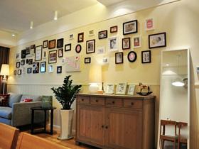 原木家具照片墻 54平宜家風二居室