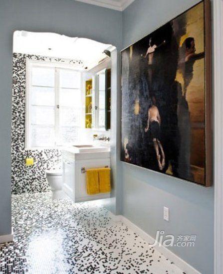 效果的马赛克,在浴缸(装修效果图)处的墙面上组成三颗爱心形状的图案