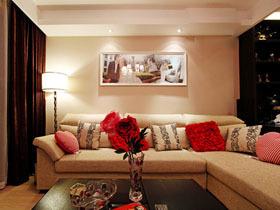 红色浪漫婚房 甜蜜一居室