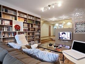 客廳做書房 人文氣息濃郁三居室
