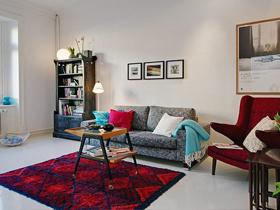 为家注入原生态 清新白色一居室