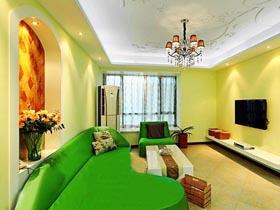 綠色控的色彩搭配法 8萬裝70平混搭風格一居室