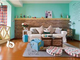 95平二室二厅 17万打造完美粉色调的地中海风格