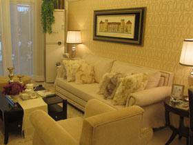 65平溫馨小家 混搭風格時尚設計二居室