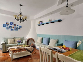 清新小戶型家居 溫馨地中海風格之家