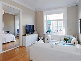 60平北欧公寓 浪漫白色两居室