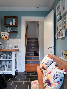 花樣裝飾 藍色巴黎風情公寓