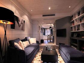 书架电视背景墙 温暖简约二居室