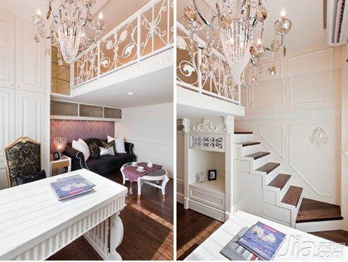 复式公�_新古典风格 30平米迷你复式公寓