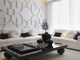 新中式風格 白色三居室室內設計