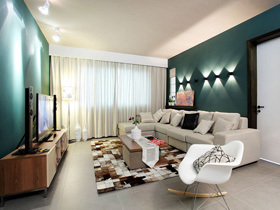 绿色北欧风 110平温馨浪漫三居室