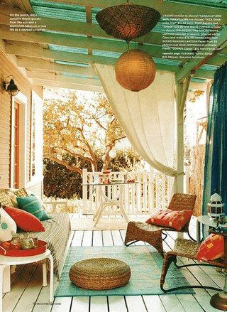 15款盆景装饰 日式阳台装修效果图
