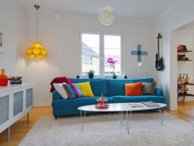 清新配色 斯德哥尔摩二居室公寓设计