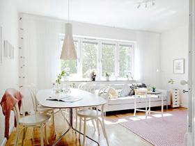 清爽溫馨 古典與現代融合的北歐公寓
