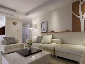 走進白色空間 120平現代三室兩廳
