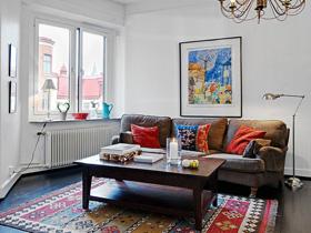 復古與現代完美結合 白色簡約一居室