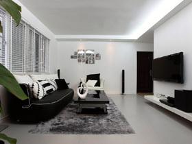 黑白极简小怀旧 88平温馨一居室