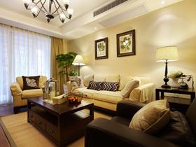迷人美式梦 暖色调舒适三居室