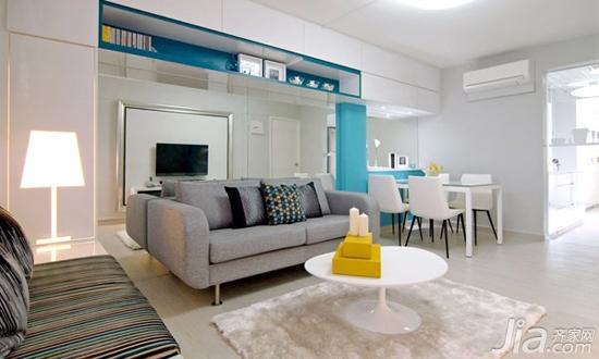 16款玲珑镜面沙发墙 视觉扩容小客厅