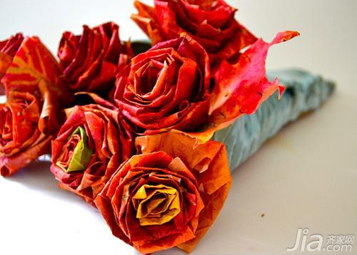 浪漫加拿大枫叶 纯手工制作天然玫瑰花(全文)图片