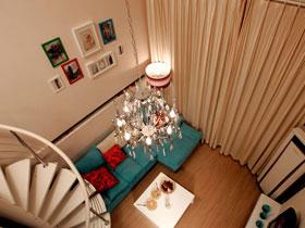 優雅旋轉樓梯 現代鮮活復式小家圖片