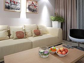 粉蓝系简约家 两室一厅美到极致