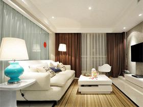 11款白色清新   客厅装修效果图