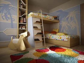 打造简约日式儿童房