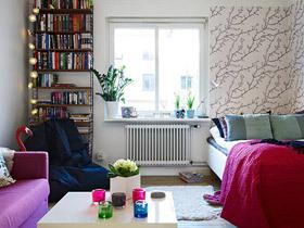 花丛中的美家 37平北欧风单身公寓