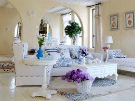 慵懒爱琴海 蓝白色的地中海美家