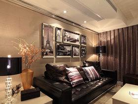 黑色调的典雅 138平时尚三室两厅
