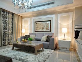时尚又优雅 125平新古典风格三居室