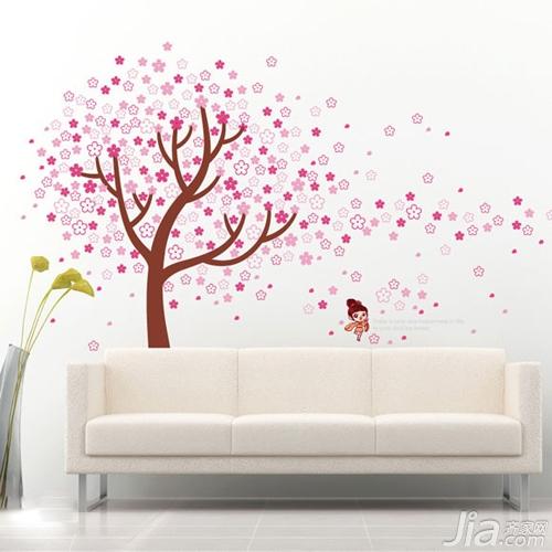绿植墙贴图画素材