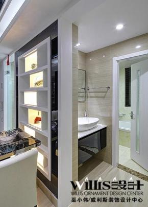 2013最新卫生间门装修效果图欣赏 90平米现代风格婚房实景高清图片