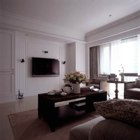 电视背景墙富裕型装修美式风格效果图