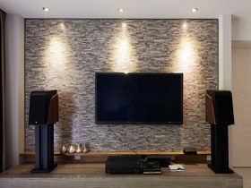 亮眼电视背景墙 138平温馨时尚美式家