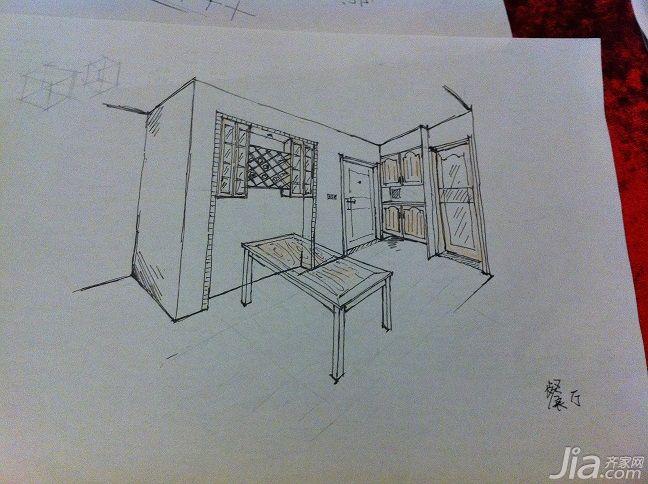 卧室衣柜推拉门手绘图