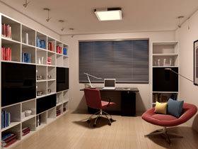 巧用灯光护视力 健康欧普设计现代书房