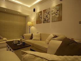 暖暖灯光下的家 86平温馨混搭三室一厅