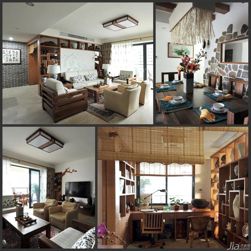 禅意宁静生活三居室 和谐一家打造雅致中式风格