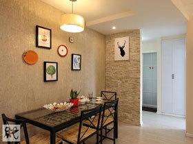 60平小房初长成 宜家风两室一厅装修效果图
