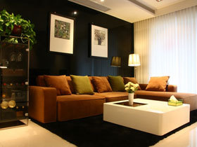 极简直线条之美 76平黑白灰品质之家装修设计