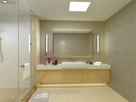 欧普灯光精心布置 展现代卫浴洁净设计