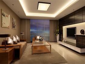 欧普照明改变生活 中式客厅感性灯光